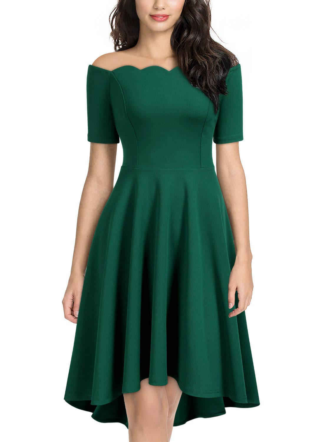 309f9e3748cc Home/Brands/MIUSOL Dresses/Miusol Women's Off Shoulder Vintage Cocktail  Party Swing Dress (X-Large, C-Dark Green). ; 