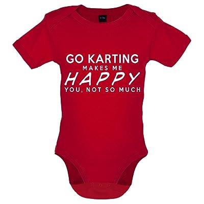 Go Karting Makes Me Happy - Bébé-Body - 7 Couleur - 0-18 mois