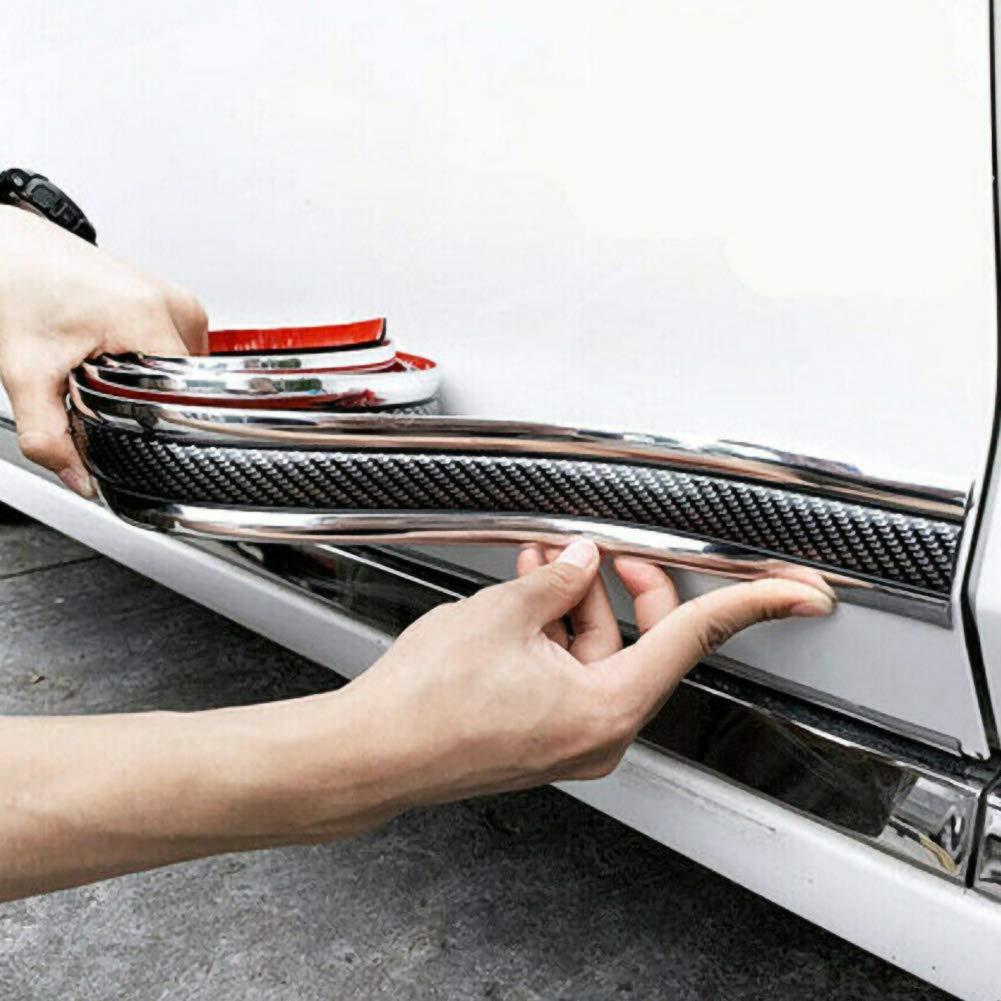 BESTEU Protecteur de seuil de Porte de Voiture Protection de Porte Pare-Chocs Flexible Spoiler Avant Pare-Chocs Spoiler Garde Flexible