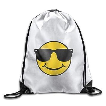 Shanzhi Smiley con Gafas de Sol Personalizado Gimnasio con cordón Bolsas de Viaje Mochila Tote Mochila Escolar: Amazon.es: Deportes y aire libre