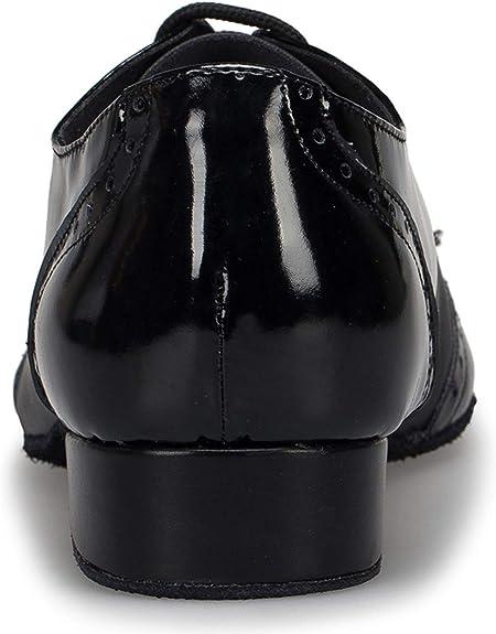 Honeystore Mens Lace-up Dance Shoes Splice PU Leather Modern Tango Jazz Ballroom Latin