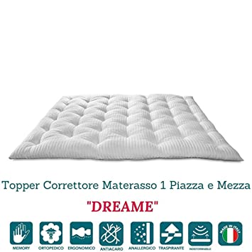 Topper Correttore In Memory Foam.Evergreenweb Correction Memory Foam Mattress Med 160 X 190 Cm X Height 7 Cm Double Bed Mattress Topper With Hypo Allergenic Memory Padding Soft