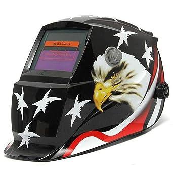 Eagle Stars - Máscara de soldadura solar para oscurecimiento automático, soldadura eléctrica TIG MIG,