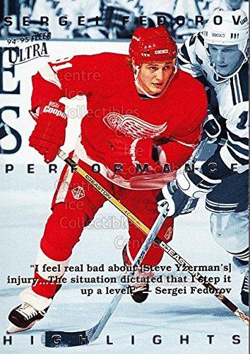 ((CI) Sergei Fedorov Hockey Card 1994-95 Ultra Sergei Fedorov 10 Sergei Fedorov)