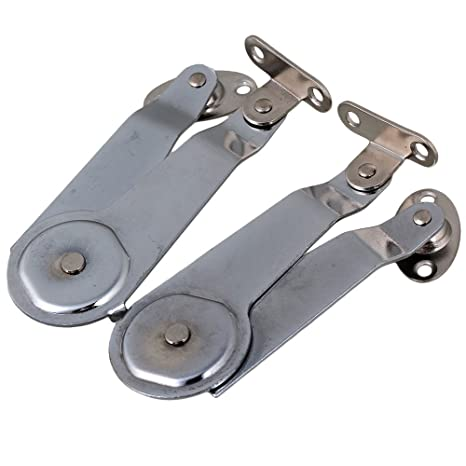 14cm Cabinet Stay Support Hinge Set of 2 Silver