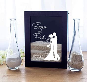 Amazoncom Cathys Personalized Unity Sand Ceremony Shadow Box Set