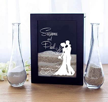 Sand Ceremony Wedding.Cathy S Concepts Unity Sand Ceremony Shadow Box Set Wedding Table Decoration Free Engraving