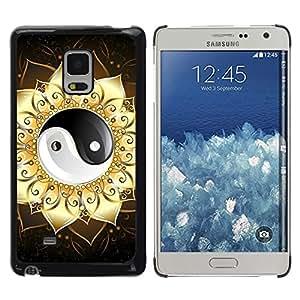 LECELL -- Funda protectora / Cubierta / Piel For Samsung Galaxy Mega 5.8 9150 9152 -- Ying Yang Floral Sign --