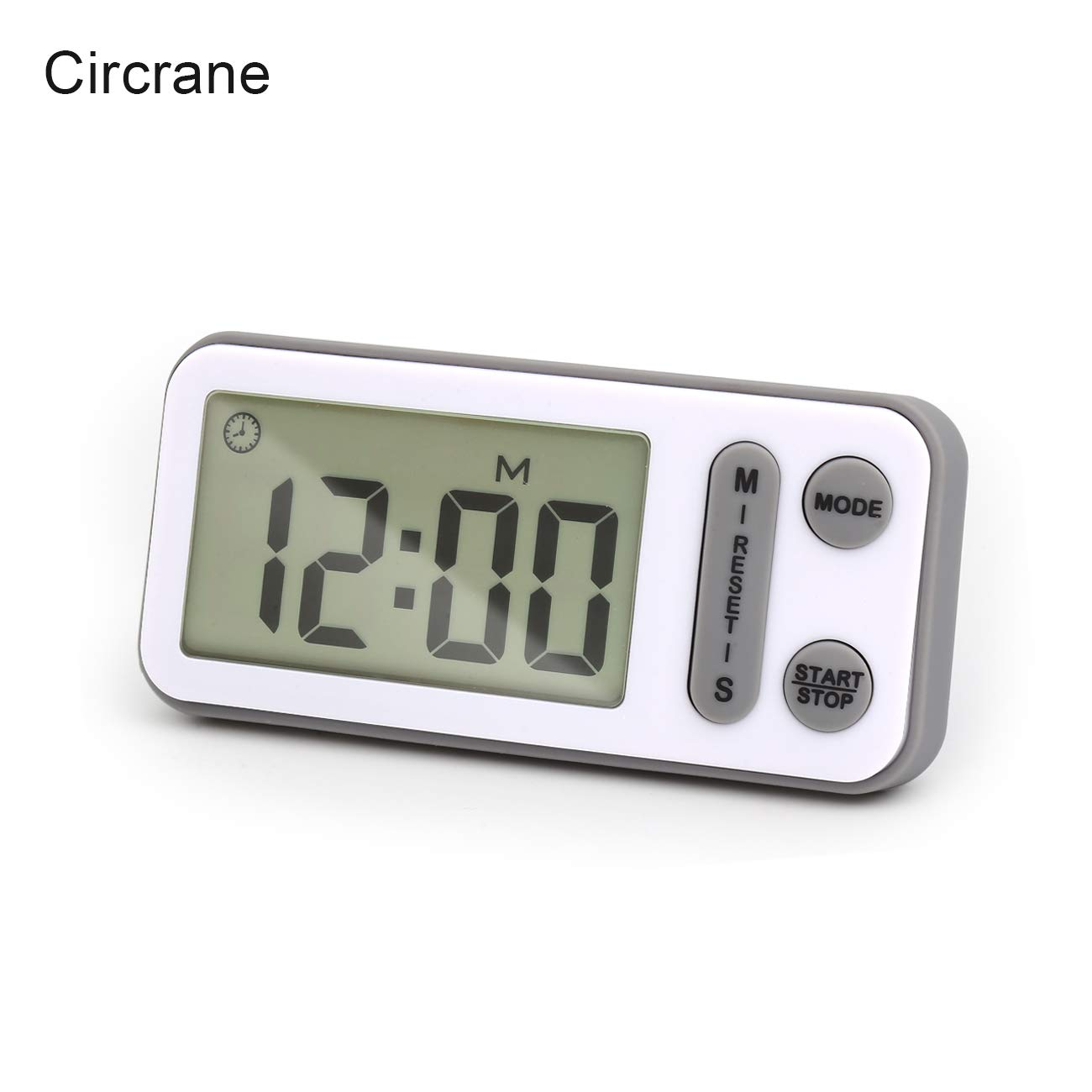 Digital Kitchen Timer, Circrane Cooking Timer battery operated, Large Display, Strong Magnet Back,Memory Function, Display Loud Alarm Clock, for Cooking Baking Sports Games Office (Grey)