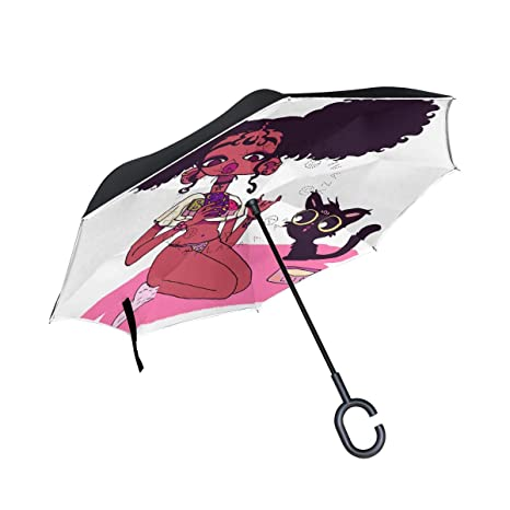 12484eb759374 Unique Anti-UV Double Layer Inverted Umbrella with C-Shaped Handle,  Waterproof Windproof