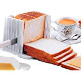 NiceButy eB-01 Kitchen Pro Bread Loaf Slicer Slicing Cutter Cutting Cuts Even Slices Guide Tool, White