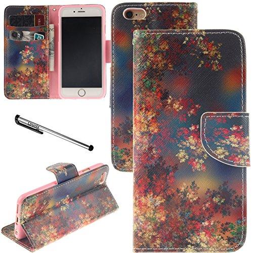 iPhone 6Plus/iPhone 6S Plus Fall, urvoix (TM) Ständer Leder Brieftasche Fall–Fall Leaf Flip Cover für 14cm iphone6plus/6splus (nicht für iPhone 6)