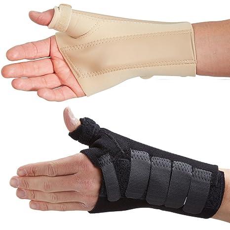 Orthèse de poignet et pouce - Idéale pour le traitement des fractures du  scaphoïde, des douleurs et lésions du pouce (M Gauche, Noir)