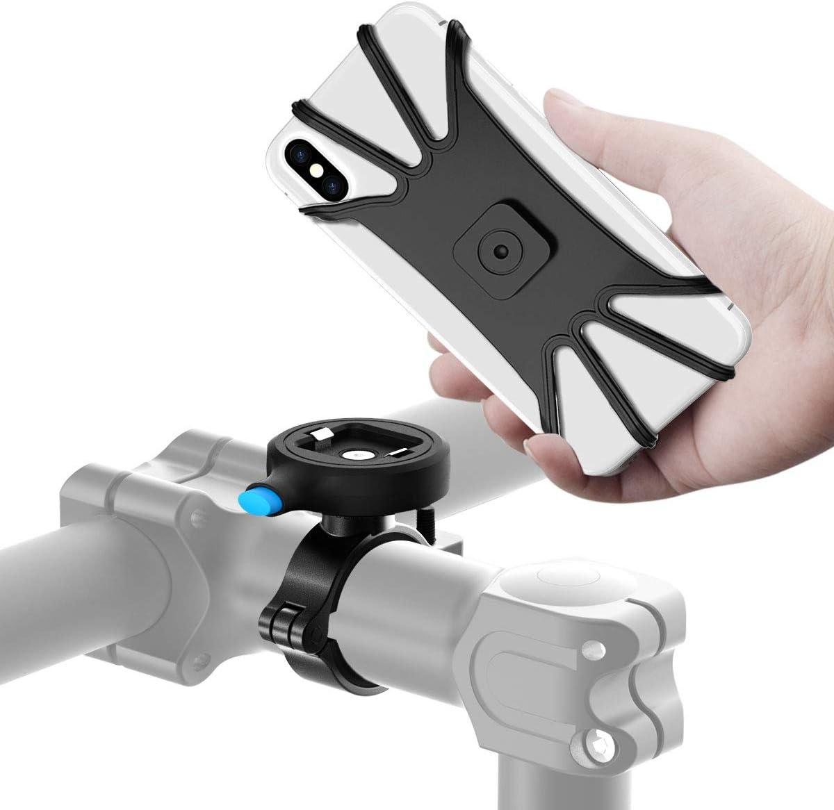 Cozycase Soporte Movil Bicicleta,Soporte Universal de Metal para Motocicleta de Bici, Motociclo con Agarre Resistente Compatible con teléfonos Inteligentes de 4.7