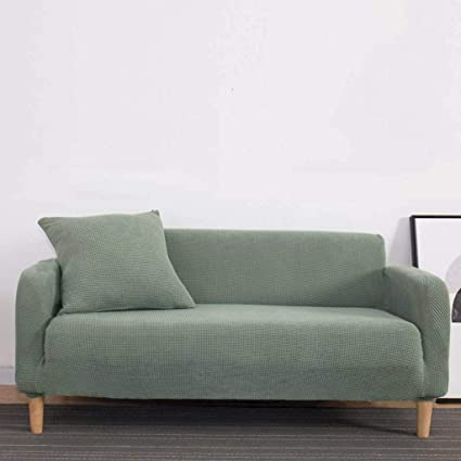 Chair Loveseat Stretch Sofa Cover, All-Inclusive Four Seasons Universal  Furniture Slide/Protector is Simple and Durable.-Pine Green-Sofa
