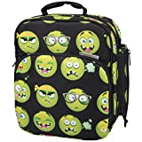 Insulated Durable Lunch Bag - Reusable Meal Tote With Handle and Pockets - Emoji