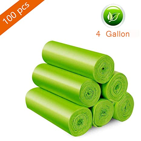 Amazon.com: Bolsas de basura biodegradables, 4 galones ...