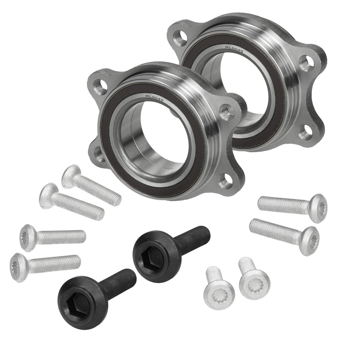 ECD Germany 2 x Wheel Bearing Set Wheel Bearing Kit