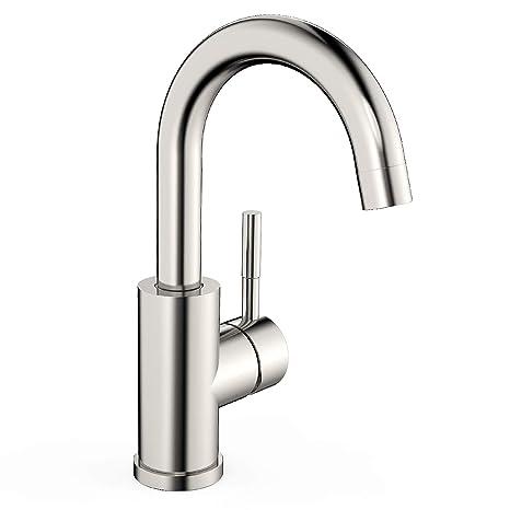 Amzdeal Waschtischarmatur hoher Auslauf 360 ° drehbare Waschbecken Armatur Mischbatterie Badezimmer Wasserhahn, Waschtisch Ar