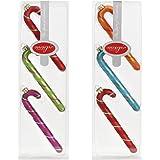 Inge Glas 66207-K - Bastoncini natalizi Mille Fiori, 13,5 cm, 6 pz, colore: rosso/verde/rosa/arancione/turchese
