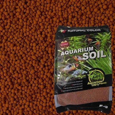 Color Natural Acuario Tropical Plantado Peces Tanque Volcánico Sustrato Grava Rojo, 2-4mm, 5 kg: Amazon.es: Productos para mascotas
