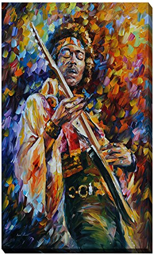 Picture Perfect International Giclee Stretched Wall Art by Leonid Afremov Jimi Hendrix Artists-Canvas, 18