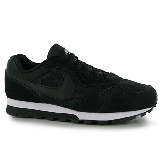 nike md runner black and white womens shoes