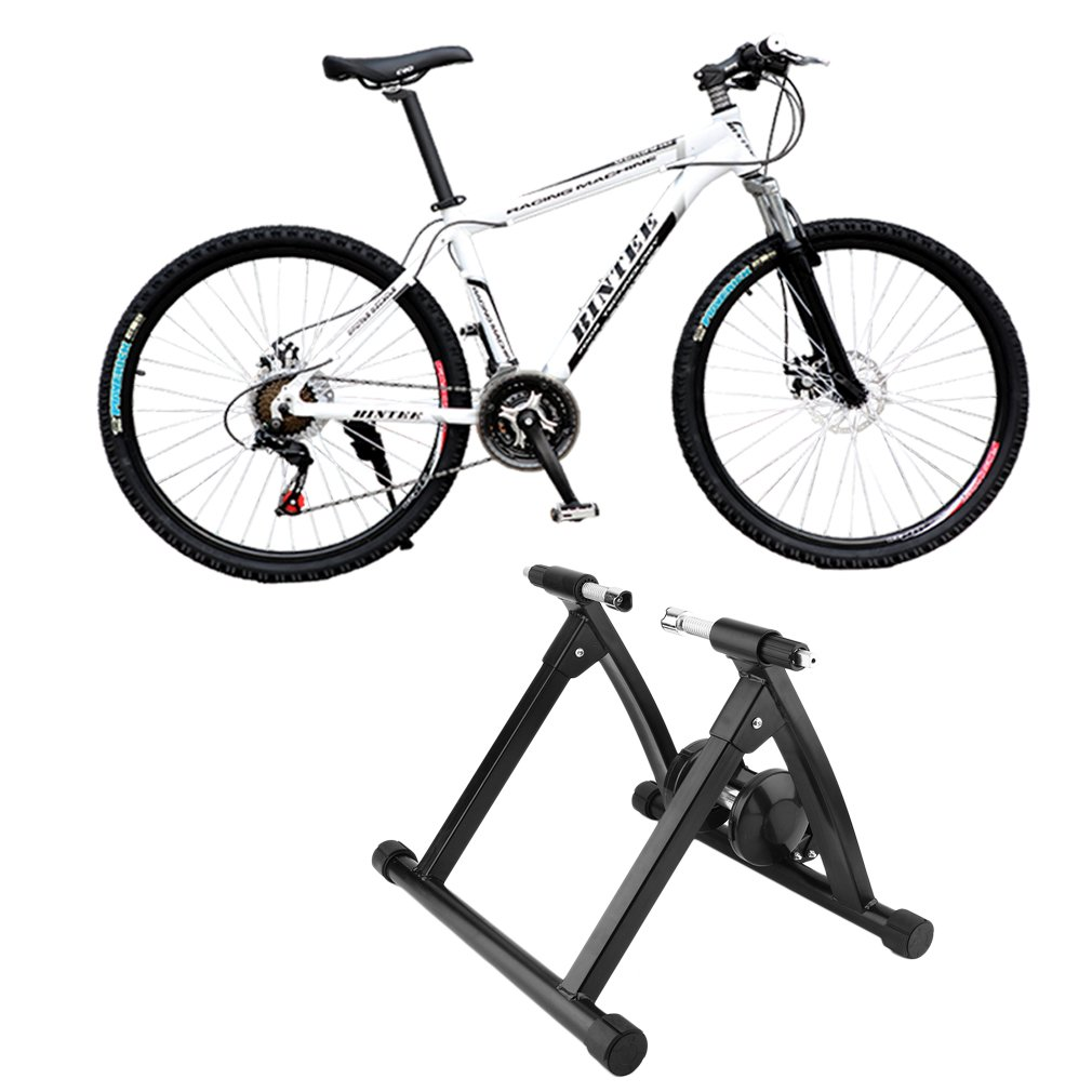 Alterdj: soporte de entrenamiento para bicicleta plegable con imán de acero para ciclismo, montaña, interior o estación de entrenamiento, para bicicleta de ...