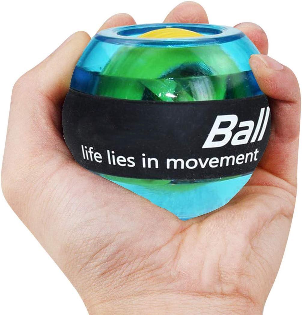 XEMZ pelota de ejercicios de entrenamiento de muñeca, bola giroscópica con luces LED, fortalecedor de potencia de muñeca y antebrazo para una mayor flexibilidad de muñeca, músculos de brazo, fuerza de