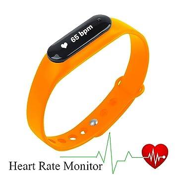 XIHE Pulsera de Fitness Relojes inteligentes -Podómetros Pulsómetros Monitor de ritmo cardíaco Seguimiento de calorías Actividad Física Sleep Monitor ...