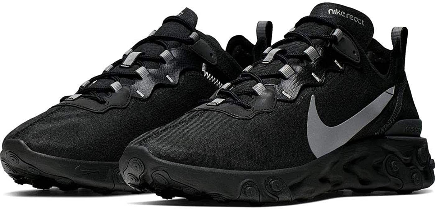 Nike React Element 55 Se, Chaussures de Running Compétition Homme Noir (Black/Anthracite 2)