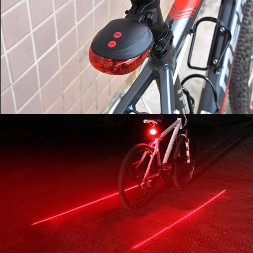 USB Rechargeable White LED Bike Lights for All Bicycles Road /& MTB Red
