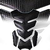 3D 4-Piece Customize Fuel Tank Pad Decal / Sticker Perforated Black w/Black Trim