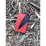 Credit Card Knife, Folding Pocket Knife. Tactical Survival Foldable Knife, Letter, Envelope, Package Knife, Safety Knife, CardSharp Card Sharp, Sharp Card (Red & Black)