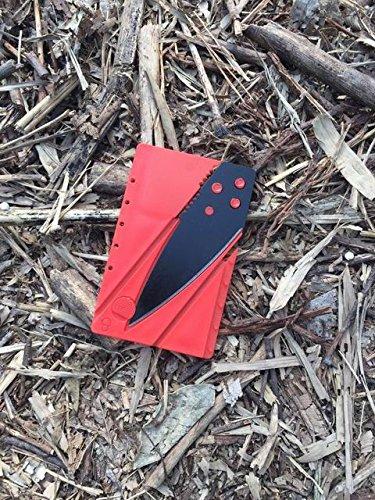 Credit Card Knife, Folding Pocket Knife. Tactical Survival Foldable Knife, Letter, Envelope, Package Knife, Safety Knife, CardSharp Card Sharp, Sharp Card (Red & Black)