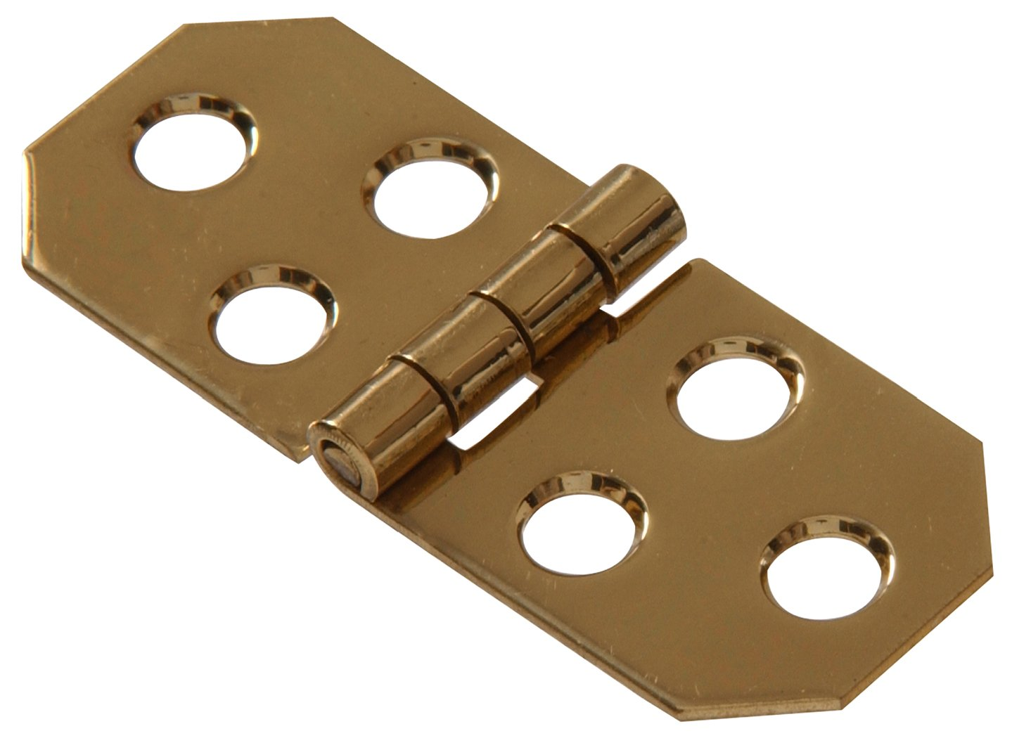 Bright Brass Finish 1-Pack The Hillman Group 853009 3//4 x 1-13//16 Solid Brass Decorative Hinge