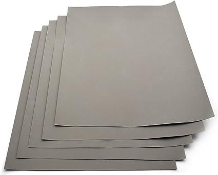 grana 2000 impermeabile Confezione da 5 fogli di carta abrasiva al carburo di silicio 230/x 280/mm per carteggiare a secco e a umido
