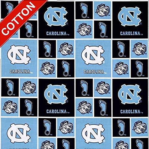 University of North Carolina Tar Heels NCAA Cotton Fabric - 45