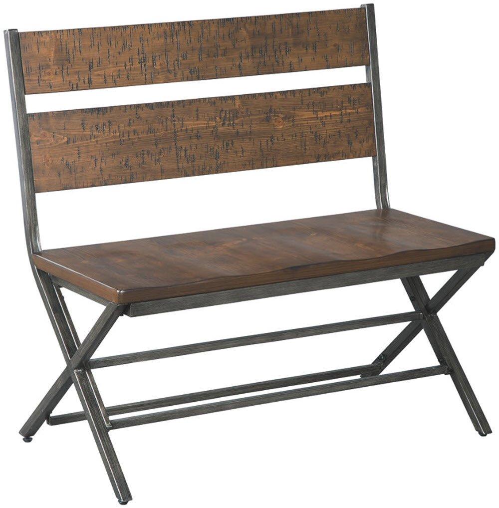 Ashley Furniture Signature Design - Kavara Double Dining Room Chair - Medium Brown