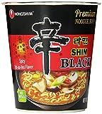 Nongshim Shin Black tJxpG Noodle Soup, Spicy, 3.56 Ounce, 6 Count (4 Pack)