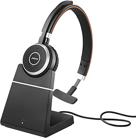 Jabra Evolve 65 Wireless Mono On Ear Headset Microsoft Teams Zertifizierte Kopfhörer Mit Langer Akkulaufzeit Und Ladestation Usb Bluetooth Adapter Schwarz Elektronik