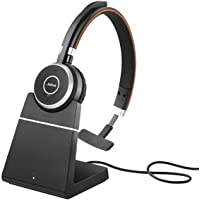 Jabra 6593-823-399 Evolve 65 MS Mono Wireless Headset with Charging Stand,Black