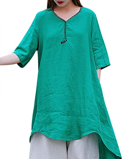 964f3af1cad Women Casual Blouse Tops Button Down Shirts Chinese Traditional Frogs  Curved Hemline EG6