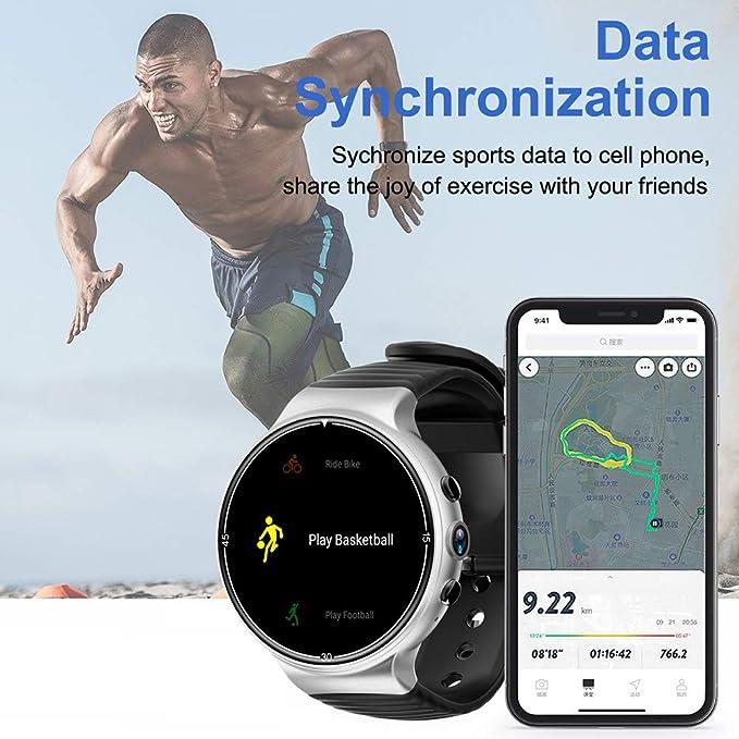 d40599a3da1a9 IQI i8 Android7.0 Quad Core Caméra fréquence Cardiaque 4 G SIM GPS  Smartwatch pour téléphones/tablettes: Amazon.fr: High-tech