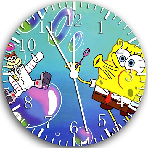 SpongeBob SquarePants Frameless Borderless Wall Clock W112 Nice For Gift or Room Wall Decor