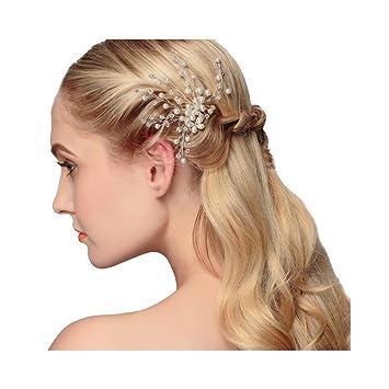 Amazon Com Vkfashion Peals Bridal Hairpins Bridemaid Hair