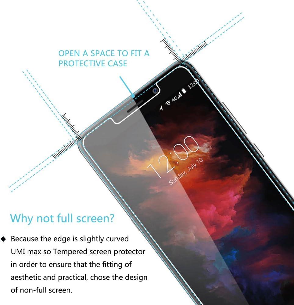 Umi Max Protector de Pantalla, [2-Pack]VIFLYKOO 9H Dureza Umi Max Cristal Templado Vidrio Templado para Umi Max Smartphone Tempered Glass Screen Protector: Amazon.es: Electrónica