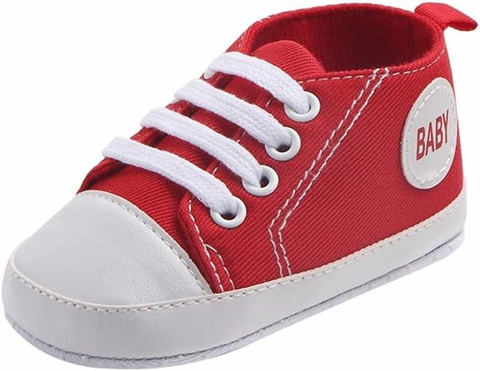 Image of K-youth® Zapatos Bebe Primeros Pasos Zapatillas Niño Recién Nacido Zapatos Primeros Pasos Zapatilla de Deporte Antideslizante de Zapatos de Lona Zapatos de bebé