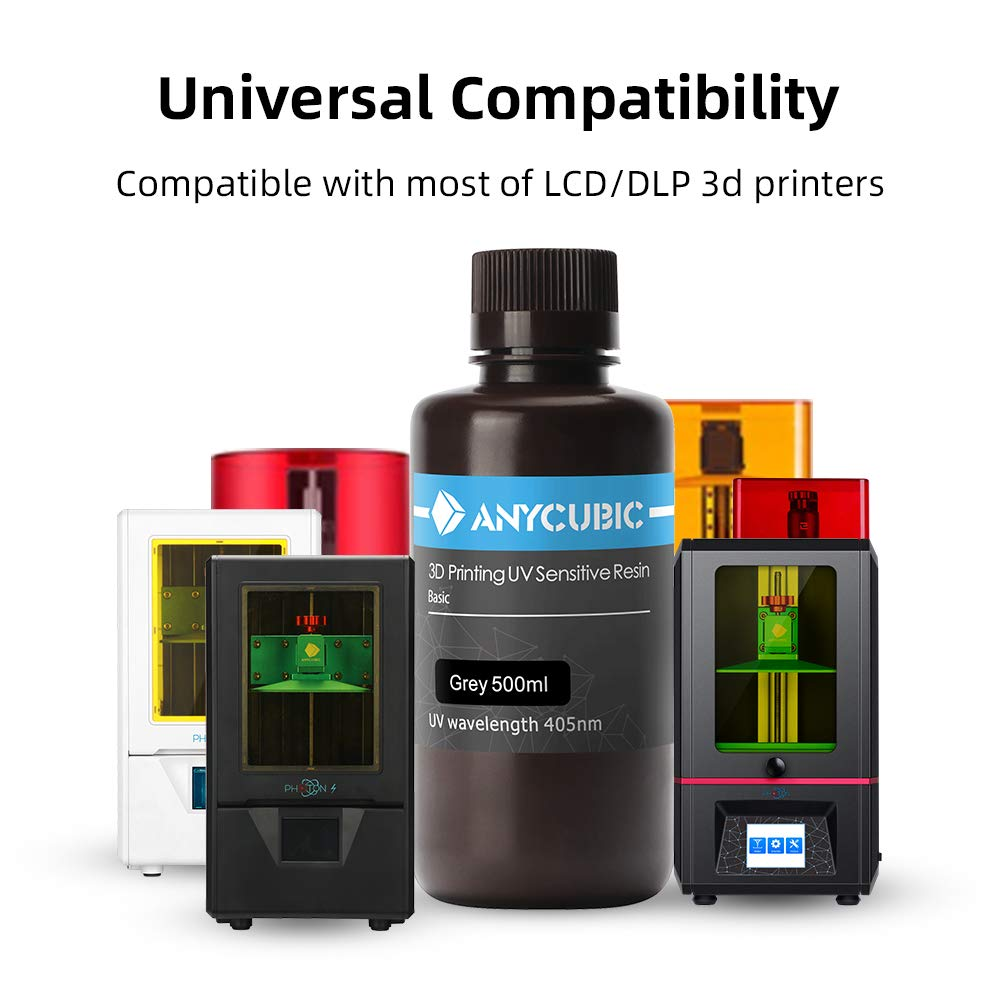 3D Impresora LCD UV 405 nm Resina 500 ml, 500ml, gris, 1: Amazon ...