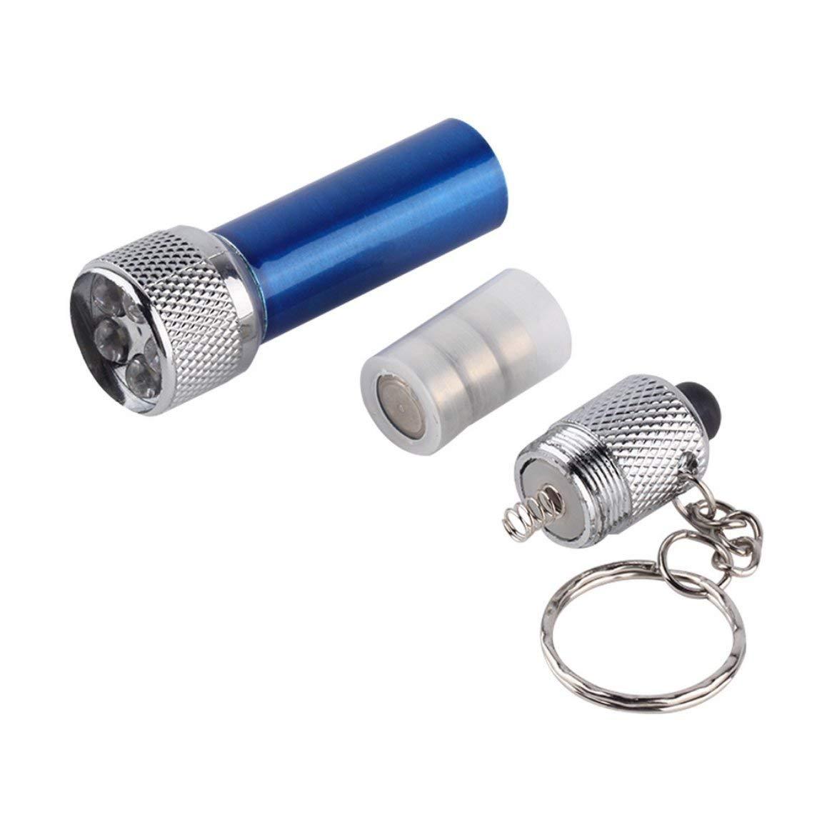 Tragbare LED Mini Taschenlampe Taschenlampe mit 5 x LED Aluminium Schlüsselanhänger Taschenlampe Delicacydex